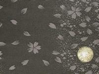 a01 帯裏 桜散(黒)正絹
