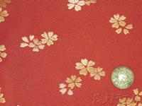 a02 帯裏 桜散(赤)正絹